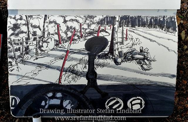 Illustratör, stefan lindblad, illustration, bil, blogga, blondinbella, kenza, Stefan Lindblad, Skog, natur, på kurs, hundkurs, teckna, skissblock