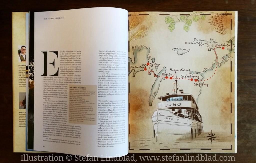 Illustratör Stefan Lindblad © , illustration teckning Göta Kanal