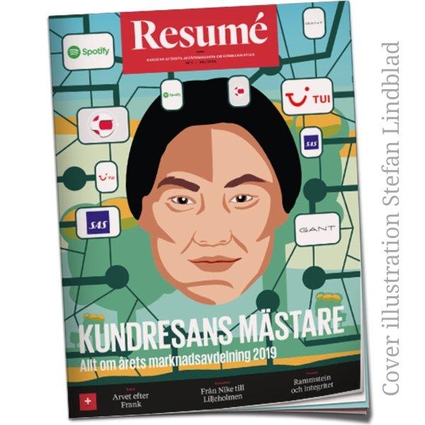 Latest Cover Illustration, Resumé magazine