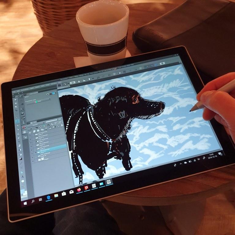 Ny teckning, Illustration och Surface Pro från Microsoft