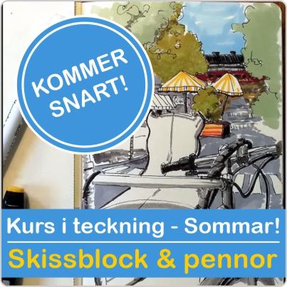 Sommarkurs onlinekurs i Teckna i skissblock eller padda