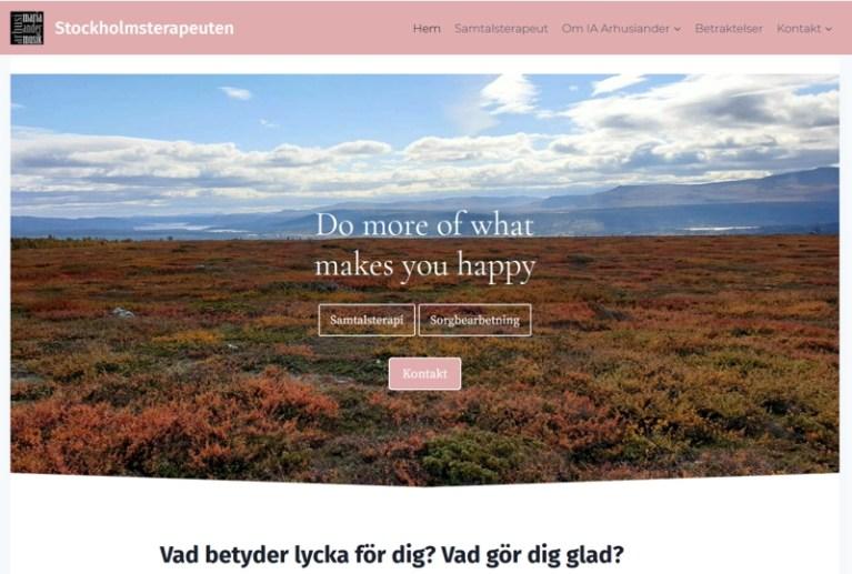 Ny hemsida skapad åt Stockholmsterapeuten