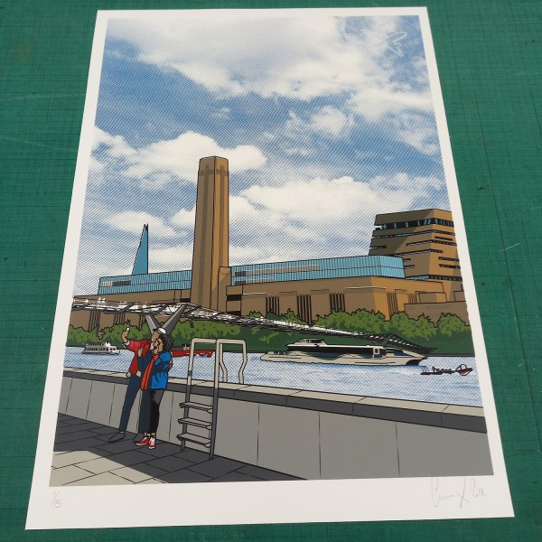 Brooklyn Art Fair Exhibitor Gerry Buxton Commissioned Tate Modern Canvas
