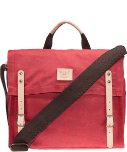 WILL wax coated canvas messenger