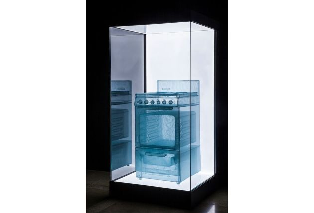 This stove is part of Do Ho Suh's Specimen Series