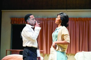 Ro Boddis as Dr. Martin Luther King Jr., Angel Moore as Camae. PHOTO | Roger Mastroianni