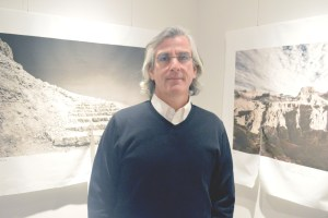 Photos of Masada, left, and the Grand Canyon bracket Michael Weil at his Foothill Galleries. PHOTO | Carlo Wolff