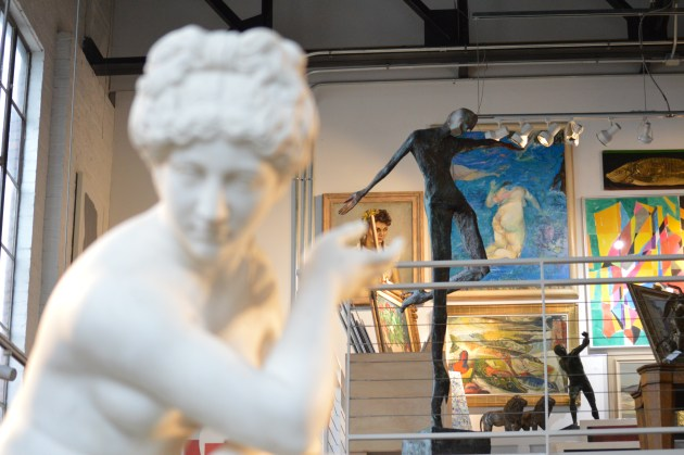 A look at some of the artwork inside WOLFS Gallery. Photo by Jonah L. Rosenblum.
