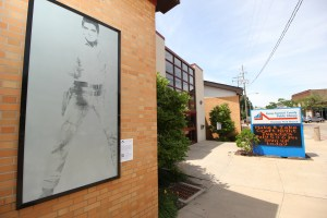 """""""Single Elvis"""" by Andy Warhol was on view during the summer at the Firestone Park branch of the Akron-Summit County Public Library in Akron as part of the Akron Art Museum's Inside