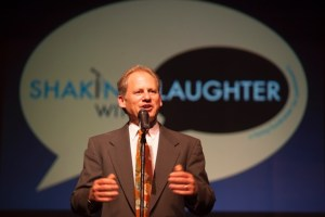 Marc Jaffe at a 2015 Shaking With Laughter fundraising event to benefit those with Parkinson's disease. Photo by Michael Weil