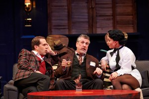 "From left, Jeremy Webb, Marc Moritz and Georgia Cohen in a Cleveland Play House production of ""Bell, Book and Candle."" Photo by Roger Mastroianni"