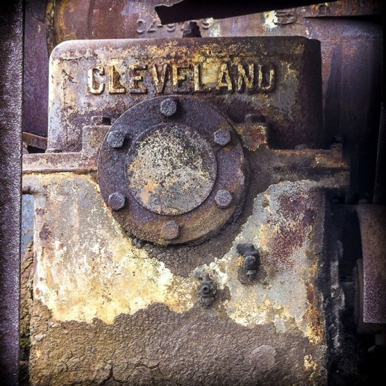 """""""Cleveland Train Car Detail"""" by John Tellaisha (2012); archival inkjet prints, 30 x 30 inches; image courtesy of the artist. Tellaisha will be one of the artists in Bonfoey Gallery's upcoming """"Contemporaries 2017"""" exhibition."""