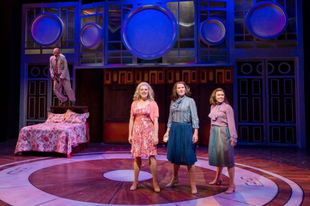 From left, Fabio Polanco as Franklin Hart, Jr., Erin Diroll as Doralee, Amy Fritsche as Violet, and Courtney Elizabeth Brown as Judy. Photo | Paul Silla