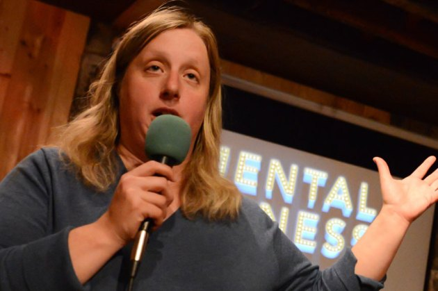 "Improvisational comedian Deena Nyer Mendlowitz, whose experiences led her to create and perform a monthly live show called ""Mental Illness and Friends."" Photo 