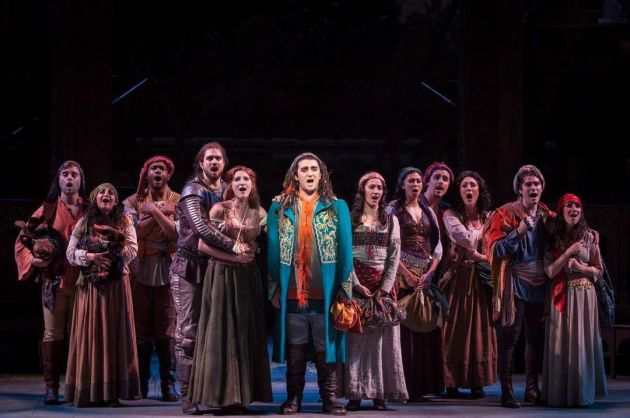 """Members of the ensemble of """"Hunchback of Notre Dame."""" Courtesy of Idaho Shakespeare Festival"""