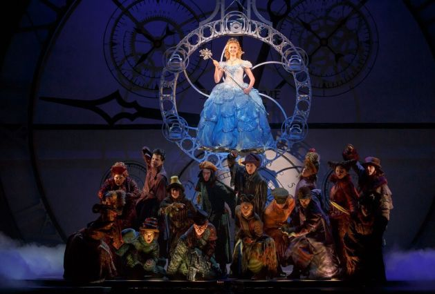 """Ginna Claire Mason as Glinda, with the """"Wicked"""" ensemble. Photo / Joan Marcus"""