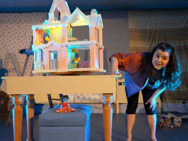"""Amy Schwabauer in """"This is NOT About My Dead Dog"""" at Playwrights Local. Photo / Dale Heinen"""