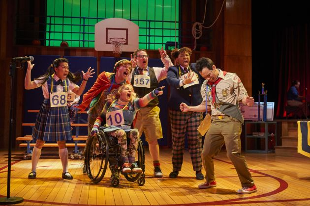 """The kids of """"The 25th Annual Putnam County Spelling."""" Photo / Roger Mastroianni"""