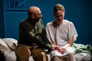Craig Joseph as Louis Ironson, from left, and Scott Esposito as Prior Walter. Photo / Aimee Lambes