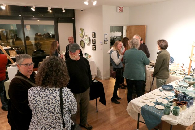 "The gallery at Article/Art in Cleveland was packed in October for the opening of ""Ceramic Invitational Show,"" which was curated by Mary Urbas, gallery coordinator at Lakeland Community College."