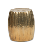 A 09 Gold Hammered End Table Canvas Event Furniture