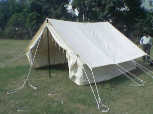 double fly emergency relief tent