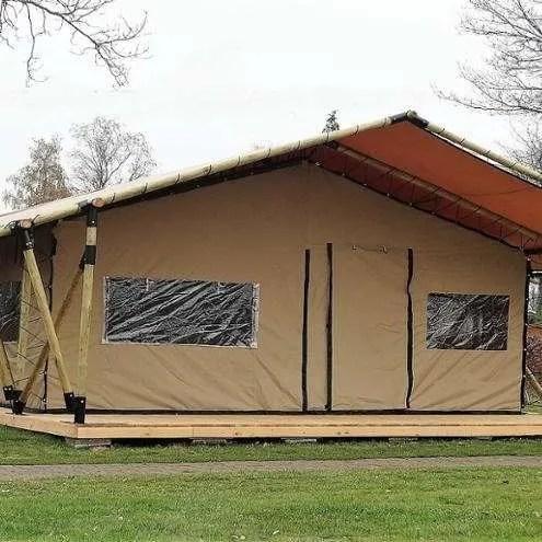 wooden safari tent