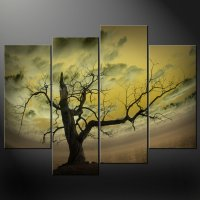 ABSTRACT SKY TREE CANVAS WALL ART PICTURES PRINTS DECOR ...