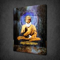 BANKSY BUDDHA CANVAS WALL ART PICTURES PRINTS FREE UK P&P ...