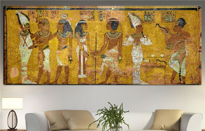 canvas prints for living room cheap furniture packages egyptian decor painting oil wall pictures ...