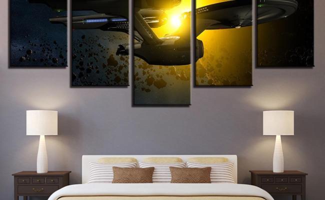 Star Trek Enterprise Sunlight Movie 5 Panel Canvas Art