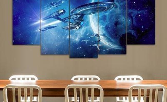 Star Trek Uss Enterprise Movie 5 Panel Canvas Art Wall