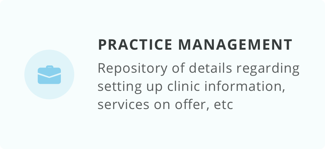 Practice Management Card