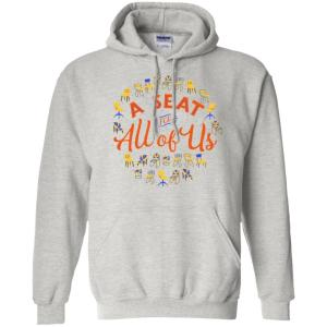 A Seat For All Of Us Classic Fit Hoodie Sweatshirt in Ash from AllGo's merch store featuring plus size statement apparel and more
