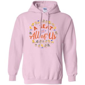 A Seat For All Of Us Classic Fit Hoodie Sweatshirt in Light Pink from AllGo's merch store featuring plus size statement apparel and more