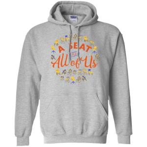 A Seat For All Of Us Classic Fit Hoodie Sweatshirt in Sport Grey from AllGo's merch store featuring plus size statement apparel and more