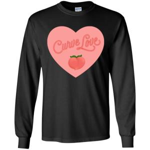 Curve Love Classic Fit Long Sleeve Cotton T-Shirt in Black from AllGo's merch store featuring plus size statement apparel and more