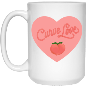 Extra Large Curve Love Mug - White in [option 1] - Plus Size Clothing - Drinkware - AllGo - An App For Plus-Size People's Clothing Store & Boutique