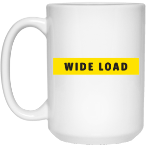 Extra Large W I D E L O A D Mug - White in [option 1] - Plus Size Clothing - Drinkware - AllGo - An App For Plus-Size People's Clothing Store & Boutique