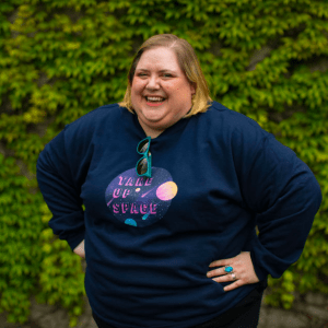 Take Up Space Classic Fit Crewneck Sweatshirt in from AllGo's merch store featuring plus size statement apparel and more