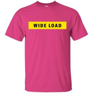 W I D E L O A D Classic Fit Cotton T-Shirt in Heliconia from AllGo's merch store featuring plus size statement apparel and more