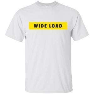 W I D E L O A D Classic Fit Cotton T-Shirt in White from AllGo's merch store featuring plus size statement apparel and more