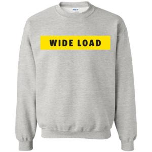 W I D E L O A D Classic Fit Crewneck Sweatshirt in Ash from AllGo's merch store featuring plus size statement apparel and more