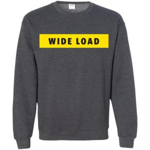 W I D E L O A D Classic Fit Crewneck Sweatshirt in Dark Heather from AllGo's merch store featuring plus size statement apparel and more