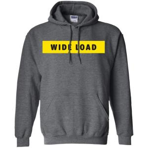 W I D E L O A D Classic Fit Hoodie Sweatshirt in Dark Heather from AllGo's merch store featuring plus size statement apparel and more
