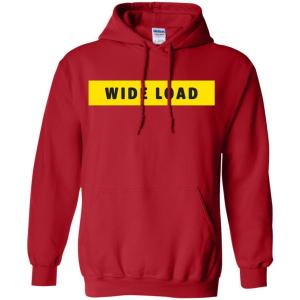 W I D E L O A D Classic Fit Hoodie Sweatshirt in Red from AllGo's merch store featuring plus size statement apparel and more