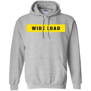 W I D E L O A D Classic Fit Hoodie Sweatshirt in Sport Grey from AllGo's merch store featuring plus size statement apparel and more