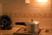 Pressure cooking away