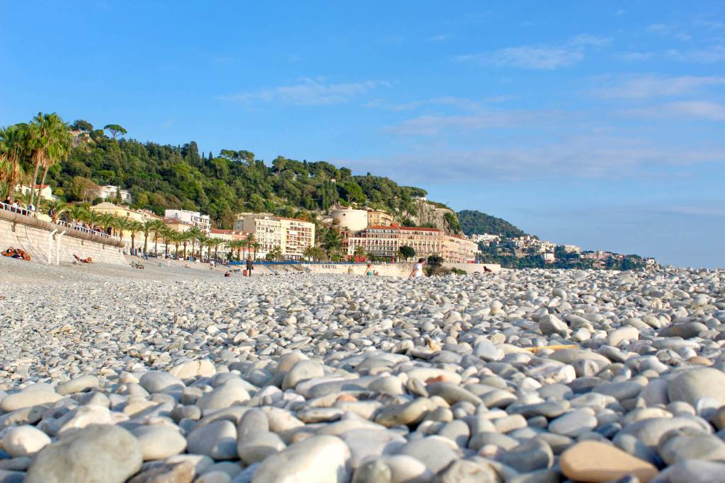 Pebbles on Beach in Nice
