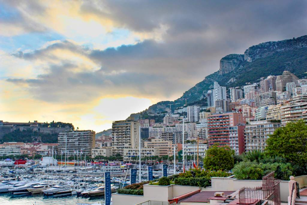 Monaco port and hillside